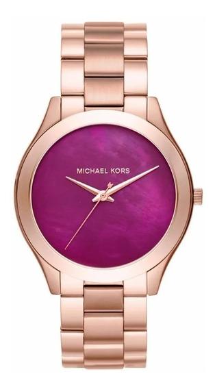 Relógio Michael Kors Feminino Runway Slim Mk3550/4tn Rose