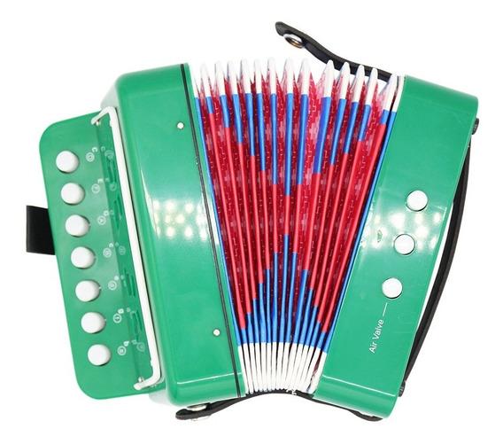 Acordeón Juguete Didáctico Piano Musical Niño Bebe 7 Colores