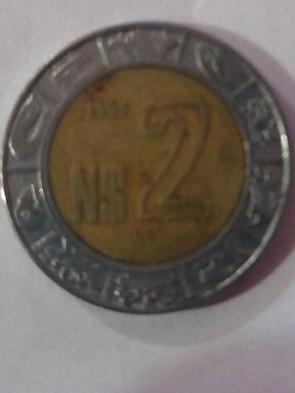 Moneda $2 Nuevo Peso 1995