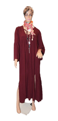 47 Street Vestido Modelo Bohemia Amplio Mas Faja De Regalo
