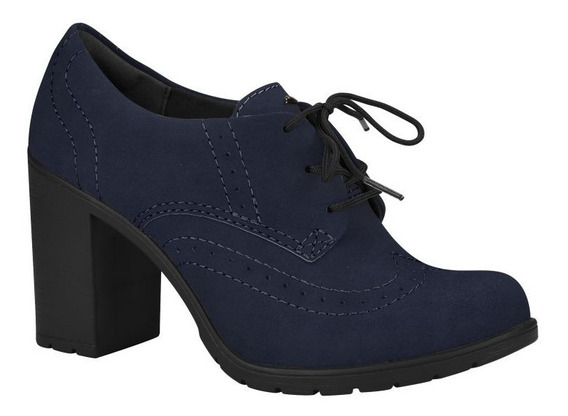 Sapato Feminino Borghese Couro Dakota Azul