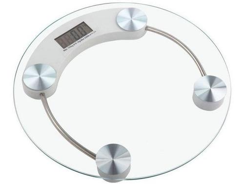 Balanza De Baño Digital Vidrio Templado Pantalla Hasta 180kg