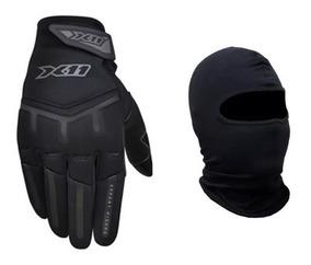 Luva X11 Fit X Motociclista Masc Brinde Balaclava Grats