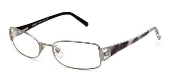Óculos De Grau Versace Masculino Acetato E Metal Cinza