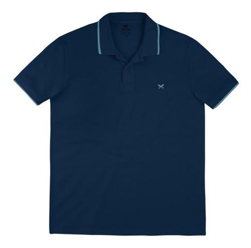 Camisa Polo Manga Curta Masculina Em Malha De Algodão