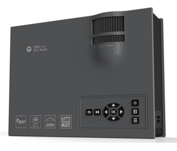 Mini Projetor Uc68 Led Profissional 1800 Lumen Wifi Miracast