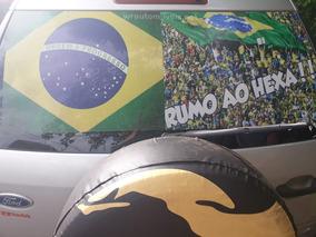 Adesivo Perfurado Decorativo Copa Do Mundo P/vidro Traseiro