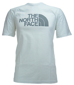 Playera The North Face M S/s Half Dome White Logo Grey