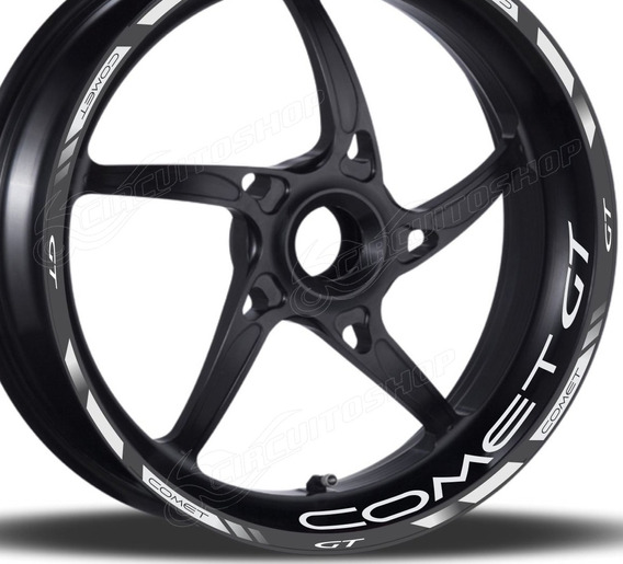 Friso + Adesivo Refletivo Roda D3 Moto Comet Gt 250 Gt250