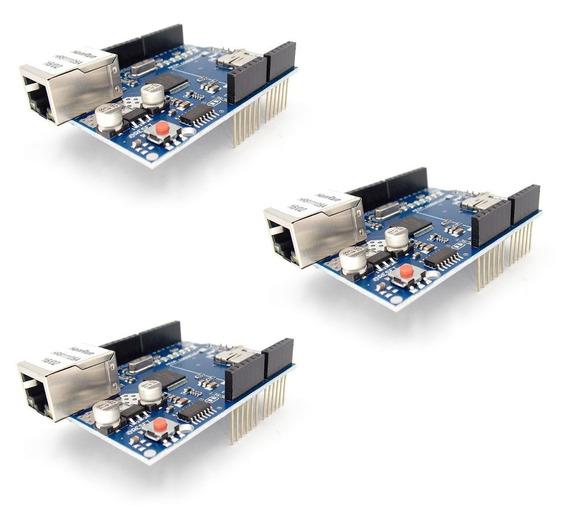 03x Ethernet Shield W5100 Rede Arduino Uno R3 Nano Mega