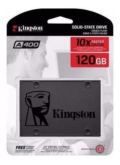 Hd Ssd 120 Gb Sata 3 Kingston A400 Sata 3 6gb (10x + Rápido)