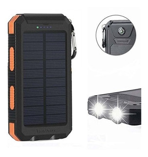 Solar Power Bank 20000mah Cargador Solar Impermeable Portar