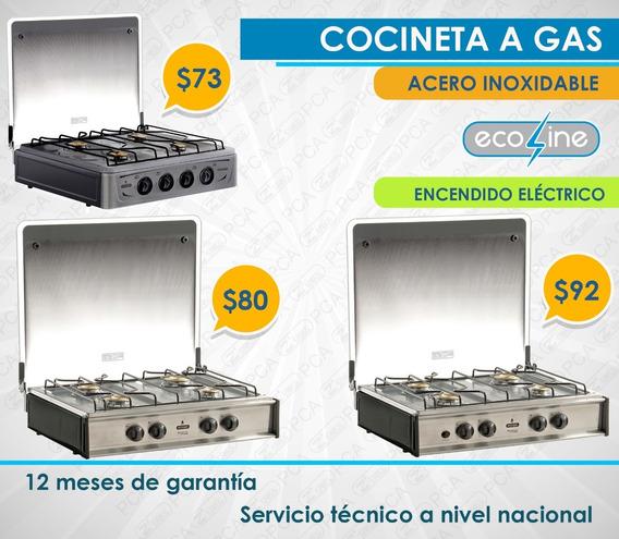Cocineta Acero Inoxidable 4 Quemadores - Ecoline