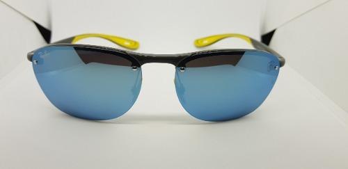 Óculos De Sol Ray Ban Rb4302 Scuderia Ferrari Azul Espelhado
