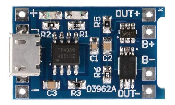 5 Unidades Carregador Bateria De Lítio Micro Usb Tp4056