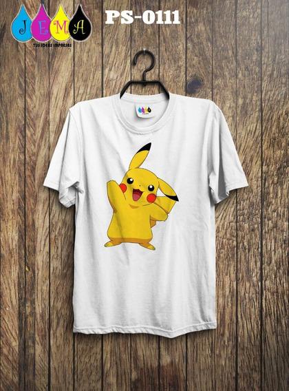 Camisas Sublimadas De Pikachu