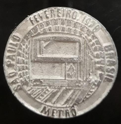 Imagem 1 de 2 de Moeda Ficha Metro São Paulo 1978