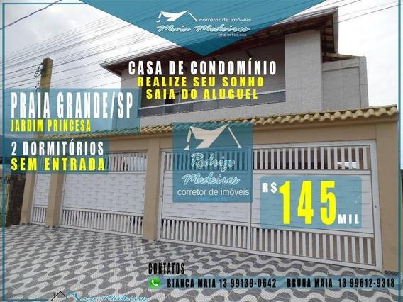 Sobrado Com 2 Dormitórios À Venda, 58 M² Por R$ 145.000 - Princesa - Praia Grande/sp - So0033