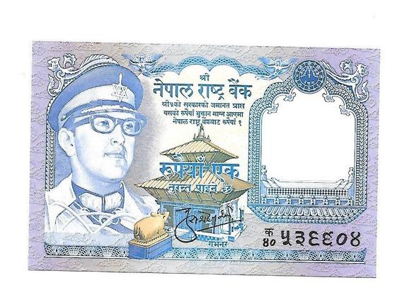 Liquido Excelente Billete De Nepal. 1 Rupia 1974 Unc