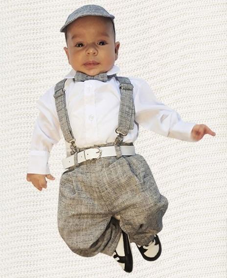 Conjunto Batizado Festa Infantil Menino Calça Camisa Social
