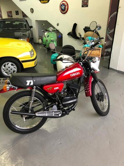 Yamaha Tt 125cc 1980 Impecável, Muito Nova, Manual E Chave