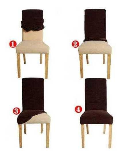Capa Cadeira Jantar Madeira Com Elástico Para 4 Cadeira
