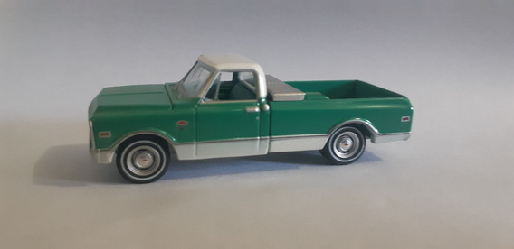 Chevrolet C 10 Pick Up 1968 Coutry Roads Greenlight - 1/64