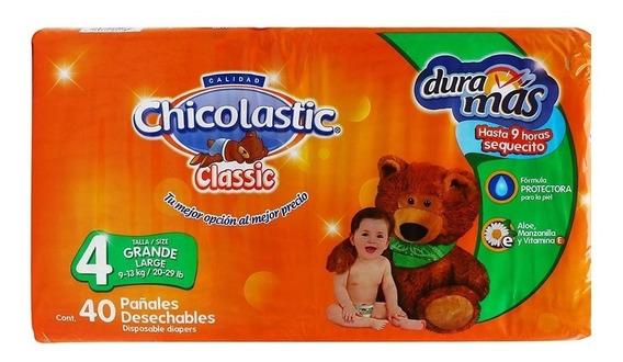 Pañal Chicolastics Classic Talla 4 Grande 40 Pzas