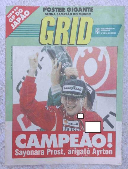 Revista-poster Grid Nº 961-a - Senna Campeão Do Mundo Japão