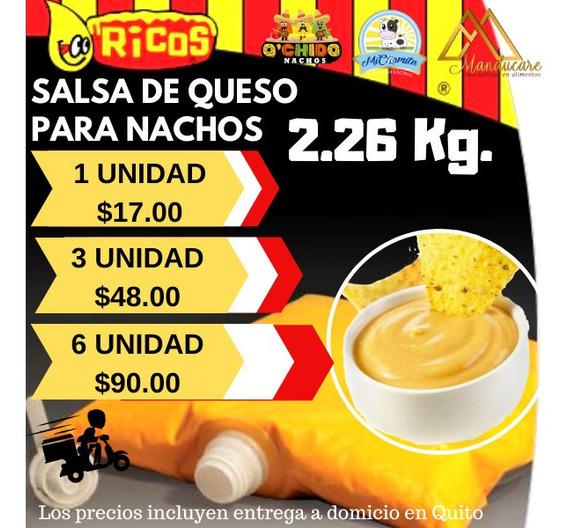 Queso Salsa Cheddar Nachos Entrega Quito Envio Provincias