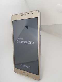 Samsung Galaxy On7 16gb Dourado 4g Quad 13mp Core Tela 5.5