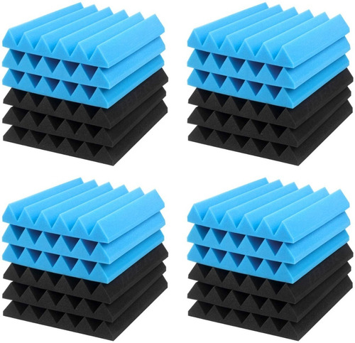 Termo Acustico Aislante Panel Piramidal 30x30x5cm 24 Piezas