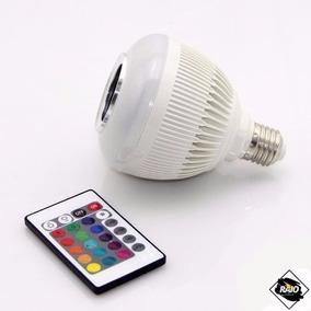 Caixa Som Lampada Led 12w Bluetooth 2 Em 1 Mp3 Music Bulb 2