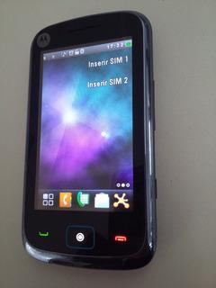 Celular Motorola Ex128 Dual Chip C/ Câmera 3mp Com Defeito