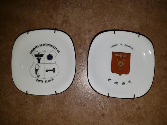 Platitos Militares Verbano De Intendencia 10x10cm $150 C/u