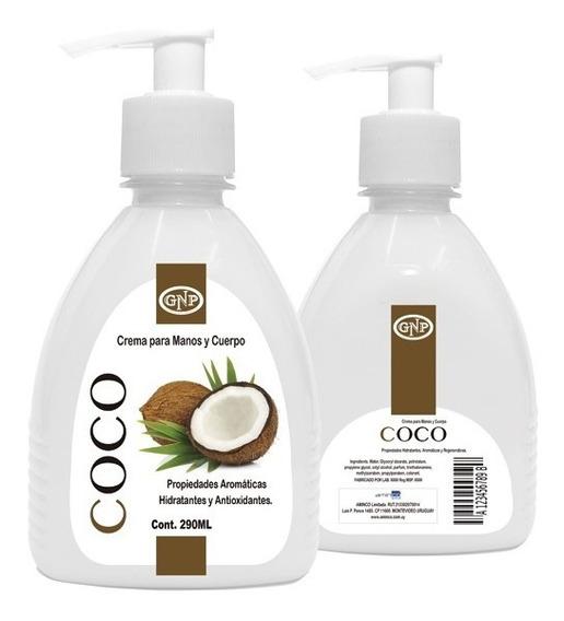 Crema Para Manos Y Cuerpo Gnp Coco 290ml Con Válvula