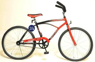Bicicleta Futura 4155 Playera Rod.24 Center Hogar