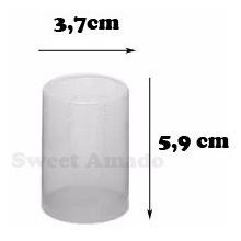 100 Lacres Incolor Termoencolhível Garrafa 3.7cm X 5.9 Cm