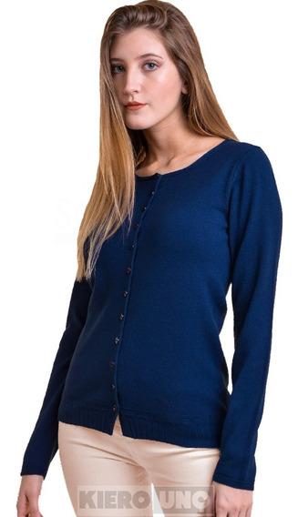 Cárdigan Mujer Saco Sweater C/ Botones Hermoso Lana Kierouno