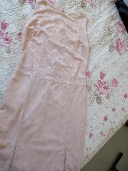 Vestido Rendado Rosé