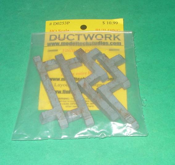 Ho(1:87) Duto De Ventilação P Prédios 4 Peças Ductwork 0253