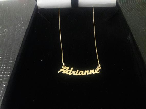 Cordão De Ouro 18k Com Nome Adrianne