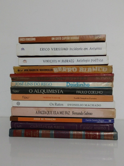 Grandes Autores Da Literatura Nacional Lote 13 Livros