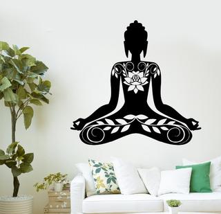 Vinilo Decorativo Buda Mujer Relax 10mil Diseños Pro