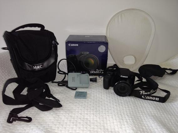 Camera Canon Sx520 Hs Power Shot Semi Profissional