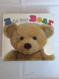 Libro Para Bebés B Is For Bear Toca Y Siente En Inglés
