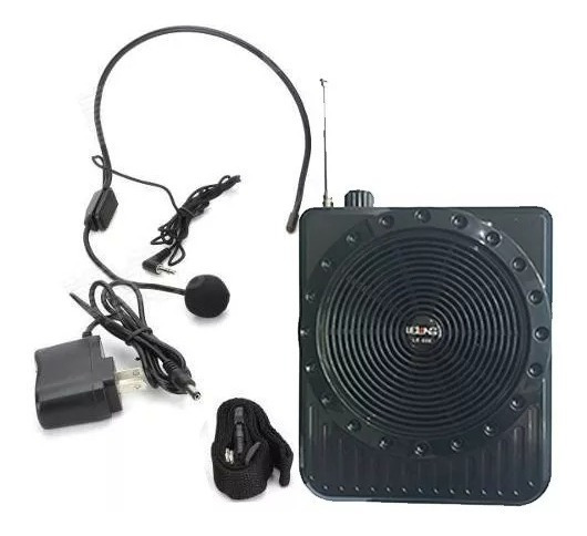 Kit Professor Lelong Fone Headset Rádio Fm Mp3 Lapela