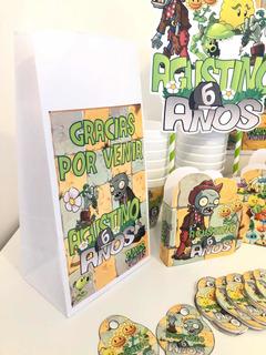 Cotillón Infantil X30 Personalizado Plantas Vs Zombies