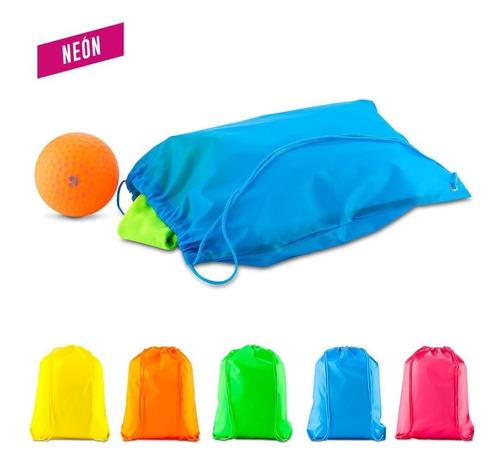 Tula Sporty Bag Sencilla Neón En Lona Poliéster 210d