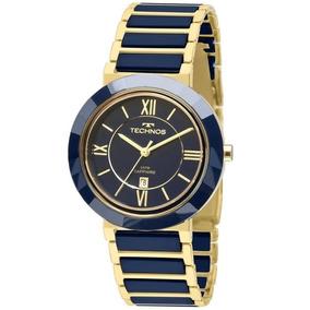 Relógio Technos 2015bv/5a (cerâmica, Azul, Analógico)